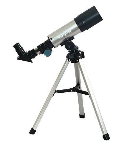 Twins Star Clear Crystal (TwinStar 50mm Beginner Compact Refractor Travel Telescope)