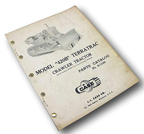 (Case Terratrac 420B Crawler Tractor Bulldozer Parts Manual Catalog Exploded View )