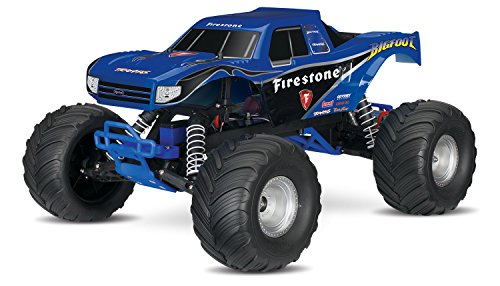 Stampede Monster Truck - Traxxas Bigfoot: 1/10 Scale Ready-To-Race Monster Truck with Tq 2.4Ghz Radio System, Blue
