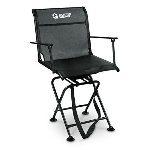 Guide Gear Big Boy Comfort Swivel Hunting Blind Chair with Armrests 500 lb. Capacity