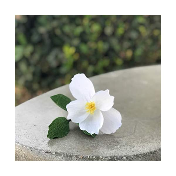 Crepe Paper Cherokee Rose in Many Color Choices