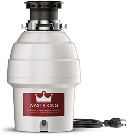 Waste King L-3300 Garbage Disposal with Power Cord, 3 4 HP