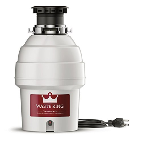 Waste King L-3300 Garbage Disposal with Power Cord, 3/4 HP
