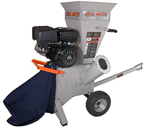 BRUSH MASTER CH4M17 420cc 4'' Diameter Feed Commercial Duty Chromium Chipper Shredder by Brush Master