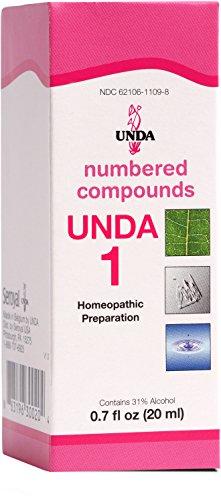 UNDA - UNDA 1 Numbered Compounds - Homeopathic Preparation - 0.7 fl oz (20 ml) ()