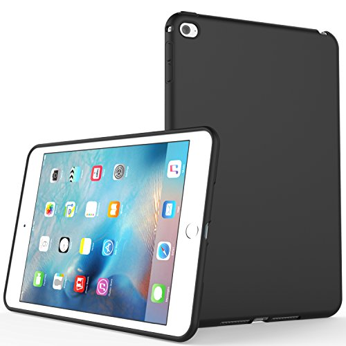 Rubber Case (iPad Mini 4 Case , SENON Slim Design Matte TPU Rubber Soft Skin Silicone Protective Case Cover for Apple iPad Mini 4 (2015 Edition) 7.9 Inch Tablet,Black)