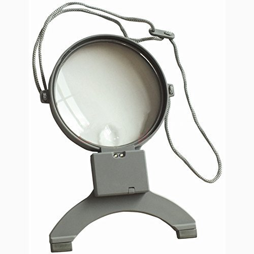 EasyLifeCare-Hands-Free-Chest-Rest-LED-Magnifier-Neck-Wear-Visual-Aid-illuminated-Magnifying-Glass-for-Low-Vision-Visually-Impaired-Seniors-Portable-25X-Bifocals-Magnifying-Loupe-Lens-for-Reading-Hobb