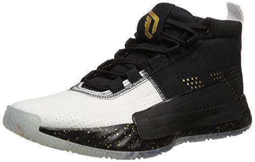adidas Men's Dame 5, Black/Gold Metallic/White, 13 M ()