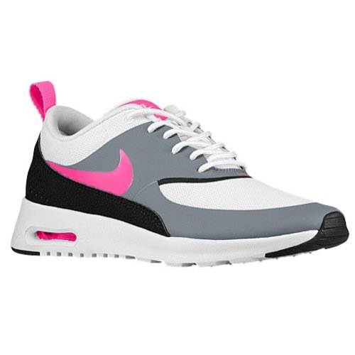 Nike Womens Air Max Thea Running Trainers 599409 Sneakers Shoes (UK 3 US 5.5 EU 36, White Hyper Pink Cool Grey Black 100) (Nike Air Max 2014 Pink And Grey)