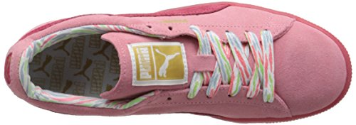 PUMA Women's Suede Classic Lo Coastal Sneaker, Flamingo Pink, 5.5 B US
