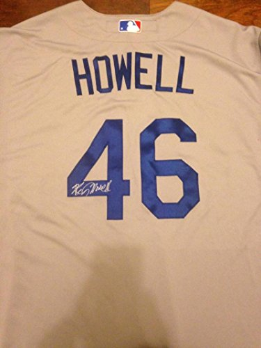 459566ec1 Ken Howell Autographed 2013 Post Season Los Angeles Dodgers Away Game Used  Jersey