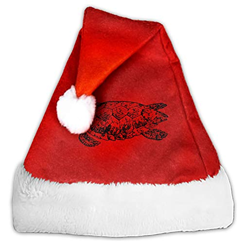 (Santa Hat Christmas Hats Caps Red White Aquatic Reptile Shell Turtle Headdress Party Decoration Cosplay Handmade Hair)