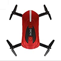 Foldable Mini Selfie Drone 720P HD Camera 2-4G Wifi FPV RC Quadcopter Helicopter Toys (Red)