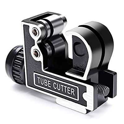 Mini Tube Cutter GOCHANGE Tubing Cutter Slice Copper Aluminum Tubing Pipe Cutting Tool 3-28mm 1/8inch to 1-1/8inch