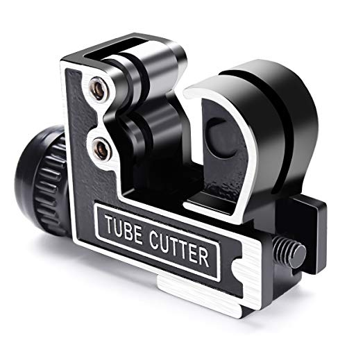 Mini Tube Cutter GOCHANGE Tubing Cutter Slice Copper Aluminum Tubing Pipe Cutting Tool Stainless Steel 3-28mm 1/8inch to 1-1/8inch ()