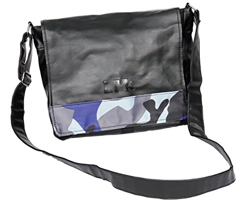c987e6d292 Deluxe Small Courier Leather and Camouflage Comfortable Messenger Shoulder  Bag