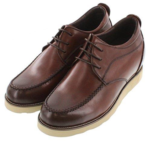 calto-g65191-8,1cm Grande Taille-Hauteur Augmenter Chaussures ascenseur-Casual Chaussures Marron