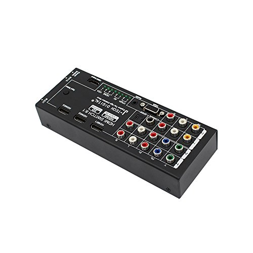 J-Tech Digital Latest Generation Multi-Functional HDMI Audio Extractor with 8 Inputs to 1 HDMI Output with Optical / Coaxial 5.1 Channel Support 3D & Surround Sound by J-Tech Digital (Image #2)