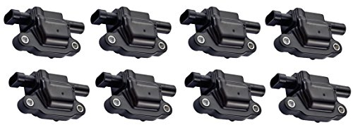 Ignition Coils for - 5.3L 6.0L V8 - Cadillac CTS ESCALADE - Chevrolet - AVALANCHE EXPRESS TAHOE TRAILBLAZER SILVERADO IMPALA MONTE CARLO - GMC - ENVOY SIERRA - Saab V8 - C1511 UF413 D510C - Pack of 8