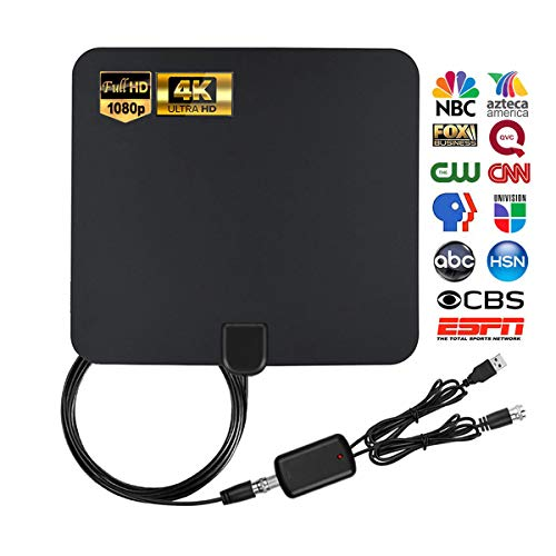 Megafeis Latest Amplified Digital Antenna for HDTV, Indoor TV Antenna with About 80 Miles Long Range