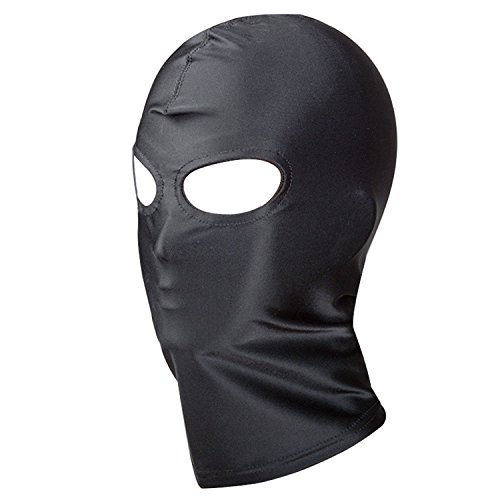 Black Breathable Face Cover Spandex Head Mask Halloween Dress up Costume for Women and Man (Eyes Holes) -
