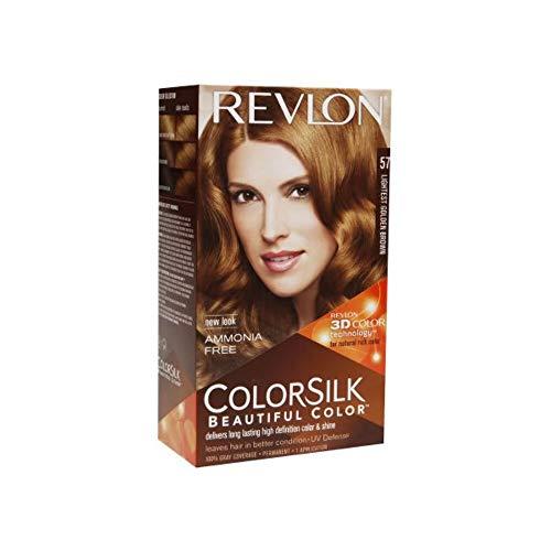 Revlon ColorSilk Tinte de Cabello Permanente Tono #57 Castano Dorado Muy C