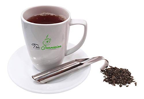 Tea Commission Tea Infuser Steeper Strainer Stick Pipe, Premium Extra Fine Mesh Stainless Steel Filter for Loose Leaf, Herbs or Spice, Eco-Friendly Gift or Single Cup Brewer by Tea Commission (Image #4)