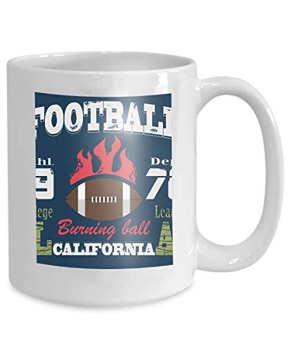 mug coffee tea cup california sport typography college football athletic dept fashion design vintage print sportswear 110z ()