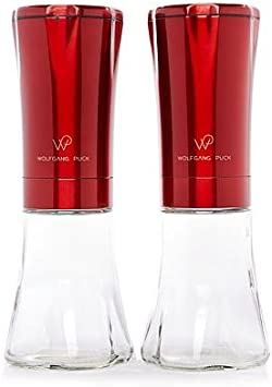 Wolfgang Puck Salt Pepper Mill Copper Color Stainless Steel  LED Lighted BATTERY