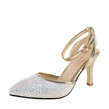 ligaosheng Mujer-Tacón Stiletto-D'Orsay y Dos Piezas Zapatos del Club-Sandalias-Boda Vestido Fiesta y Noche-Semicuero-Negro Rosa Blanco black