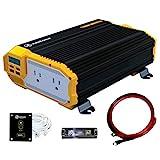 KRIËGER 1100 Watt 12V Power Inverter Dual 110V AC