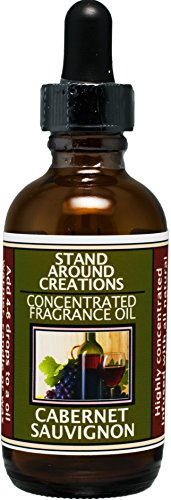 (Concentrated Fragrance Oil - Scent - Cabernet Sauvignon- A sweet aroma of wild grapes w/sweet sugary notes. A wonderful aroma of red sweet wine.Infused w/essential oil. (2 fl.oz.))