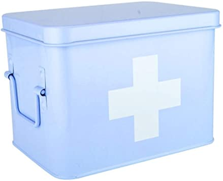 Tbagem-Yjr Botiquín de Primeros Auxilios, Caja de Almacenamiento de medicamentos Caja médica de Hierro Portátil de Gran Capacidad, Kit médico doméstico Kit de Emergencia médica for niños Viaje: Amazon.es: Deportes y aire