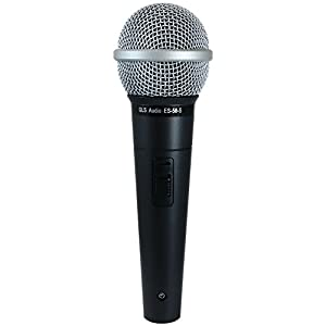 GLS Audio Vocal Microphone ES-58-S & Mic Clip - Professional...
