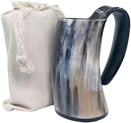 Copas De Agua Taza De Cuerno Para Beber Vikingo - Jarra De Cuerno De Cerveza/Fondo De Cuerno Y Saco De Regalo De Arpillera,Paquete De 6,380-440 Ml