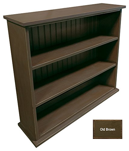 Rustic Pine Bookcase - Sawdust City Solid Wood Hall Bookcase (Old - Brown)