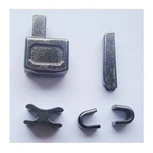 2 sets gun metal #10 metal zipper insertion pin zipper head box zipper sliders retainer insertion pin easy for zipper repair,Zipper Repair Kit (#10)