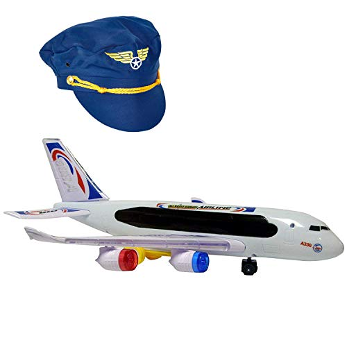 Airplane A330 with Pilot Hat, Bump and