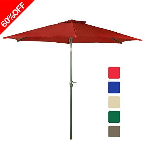 Farlan 9 ft patio umbrella outdoor table aluminum offset - Aluminium picnic table with umbrella ...