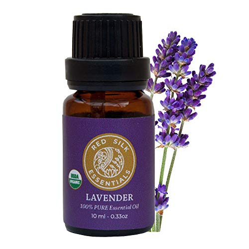 Organic Lavender Essential Oil, 100% Pure USDA Certified Organic Lavandula Angustifolia - 10ml Undiluted | Deeply Fragrant and Calming, Tension Reliever, Improves Sleep, Soothes Skin Irritations