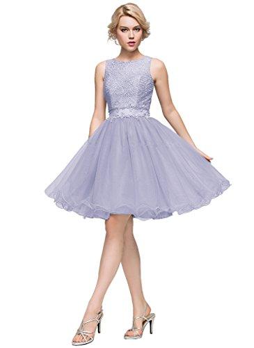JYDress - Vestido - trapecio - para mujer morado