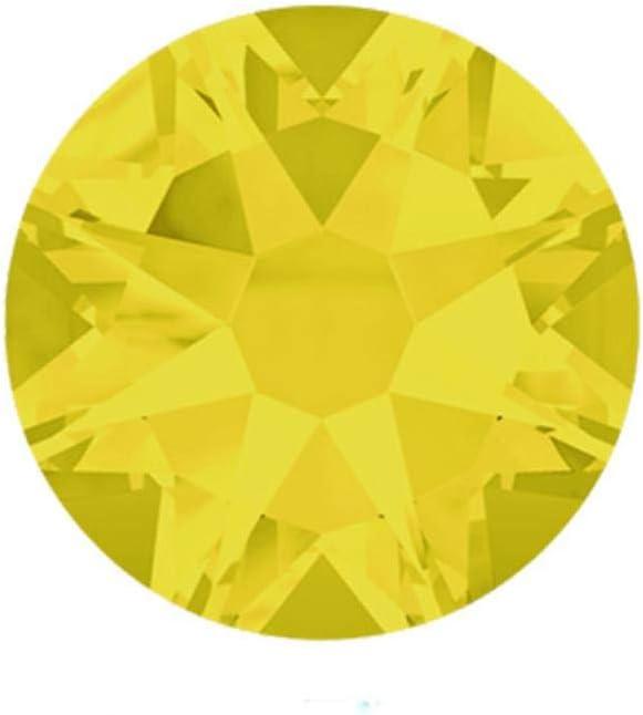 PENVEAT 2088 Facetas Cortadas SS16, SS20, SS30 Sin Diamantes de imitación hotfix 8 Grandes 8 Piedras Decorativas de Diamantes de imitación de Cristal Planos pequeños, Citrino, ss20 1440 Piezas