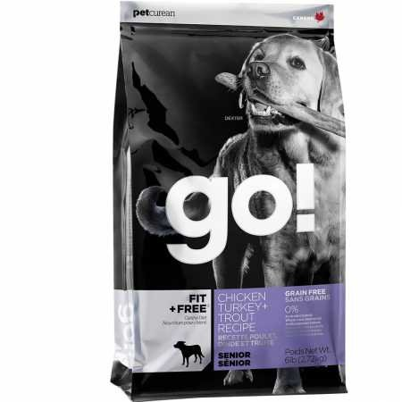 Petcurean 815260000710 Go! Fit + Free Grain Free Senior Dog 6-Pound
