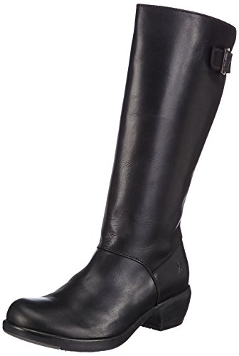 Fly London Myly Rug, Women's Cowboy Boots Black