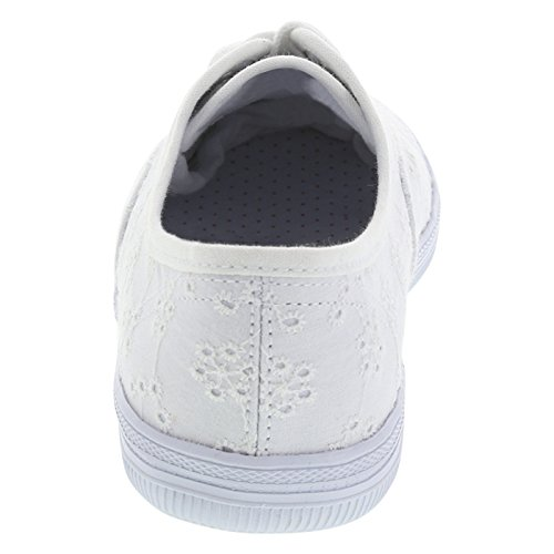 Stadt schleicht Frauen Bal Sneaker Weiße Öse