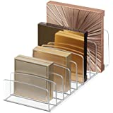 """iDesign Clarity Vertical Plastic Palette Organizer for Storage of Cosmetics, Makeup, and Accessories on Vanity, Countertop, or Cabinet, 9.25"""" x 3.86"""" x 3.20"""", Clear"""