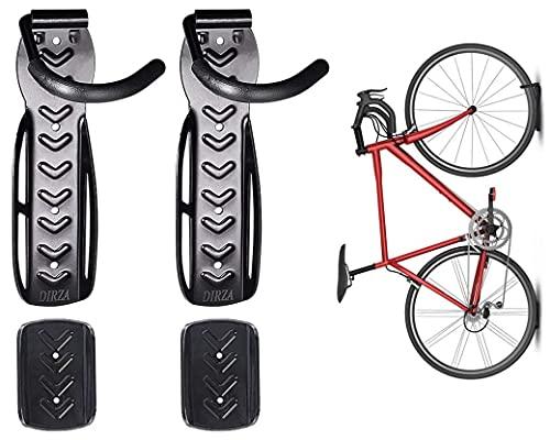 Soporte de pared para bicicleta con bandeja para neumáticos
