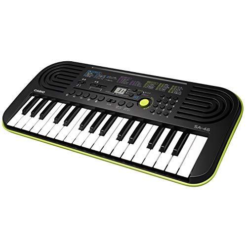 casio 32 mini keyboard electronic keyboard sa 46 black green 130501557373 ebay. Black Bedroom Furniture Sets. Home Design Ideas