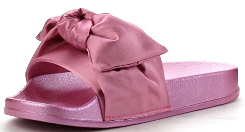 Cape Robbin Moira-19 Donna Infradito Flip Flop Slip Slip Slip On Flat Sandalo Shoe Slipper Pink Pink