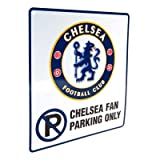 Official Chelsea FC Metal No Parking Sign - A Great Gift / Present For Men, Boys, Sons, Husbands, Dads, Boyfriends For Christmas, Birthdays, Fathers Day, Valentines Day, Anniversaries Or Just As A Treat For Any Avid Football Fan
